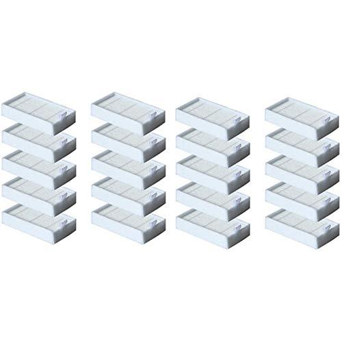 SDFIOSDOI Piezas de aspiradora 20 PC Filtro HEPA Filtro de la aspiradora Accesorios Accesorios Ajuste para ILIFE V5 V5S V3 V3S V5PRO V50 V55 X5 V5S PROHOT CLEABLE CLEAPTERS (Color : White)