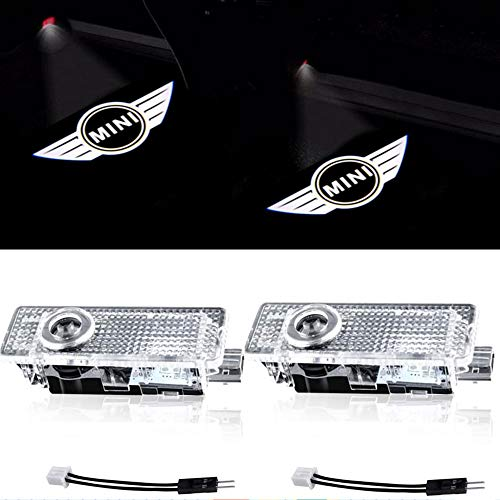 Compatible Mini Cooper Accessories Car Door LED Logo Projector Welcome Lights For Mini Cooper (2-Pack)