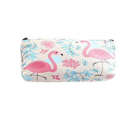 Beiguoxia Mode Ananas Flamingo Trousse cosmétique Maquillage Sac Zipper Pouch taille unique flamant rose