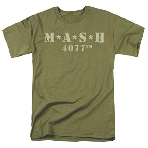 Popfunk MASH Distressed Logo T Shirt & Stickers (Large) Military Green