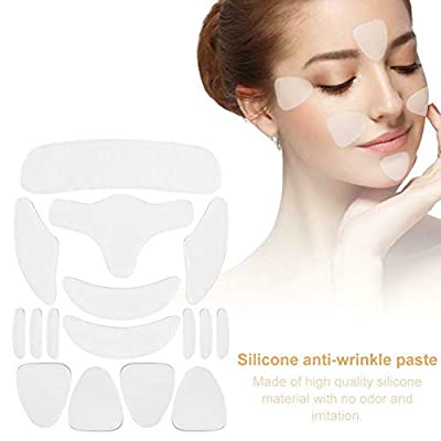 Anti Wrinkle Strips, Facial Wrinkle Patches, Face Lifting Kit, 16pcs Effective Anti Wrinkle Pad Face Lifting Silicone Forehead Sticker Home from Yiran