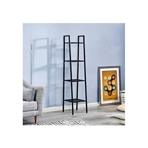 Storage Rack Multi-Layer Wrought Iron Shelf Kitchen Storage Shelf Bookshelf Floor Living Room Bedroom Decoration Shelf Balcony Flower Shelf Shelving (Color : Black)