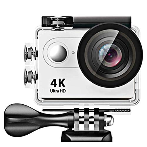 ZCFXGHH 4K WiFi Sports Action Camera Ultra HD Waterproof DV Camcorder 12MP 170 Degree Wide Angle,is The Best Gift for Photography Lovers,Silver