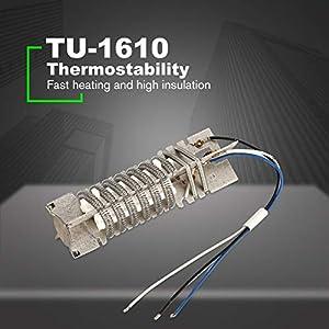 TU-1610 1600W Pistola de aire caliente Núcleo de calefacción Elemento calefactor Núcleo de calefacción de cerámica Pistola de calor Reparación de soldadura Reparación de larga duración - Blanco
