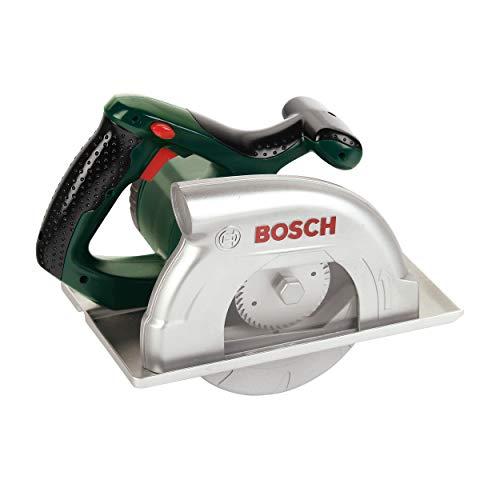 Klein 8421 Scie-circulaire électronique Bosch | Avec bruitage réaliste, fonction lumineuse et disque tournant | Dimensions : 23 cm x 16 cm x 14,5 cm | Jouet pour enfants à partir de 3 ans