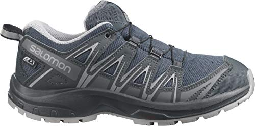 Salomon Kids' Xa Pro 3D CSWP Nocturne J Trail Running Shoes, Ebony/Alloy/Quiet Shade, 6