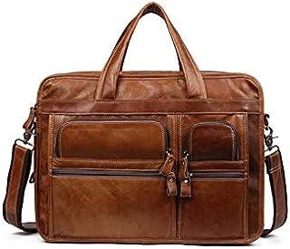 حقيبة ظهر Chliuchihjklstb، حقيبة جلد للرجال حقيبة حمل عمل عادية حقيبة كتف حقيبة يد للرجال حقيبة سفر كبيرة (اللون: بني)