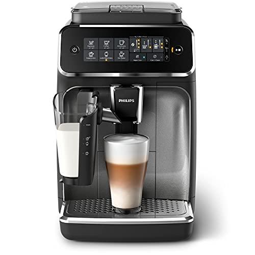Philips 3200 Series EP3246/70 Fully Automatic Espresso Machine, 5 coffee specialties, LatteGo Milk Solution, Black/Silver