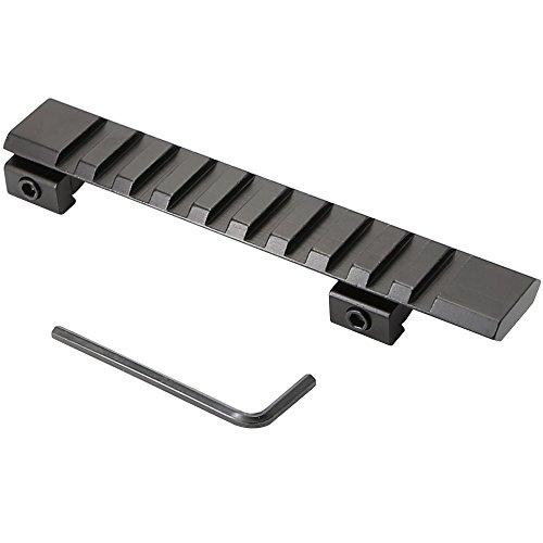 "Higoo Riser Converter 4.9"" 11mm Dovetail to 20mm Picatinny Weaver Mount Adapter 10 Slots 124MM"