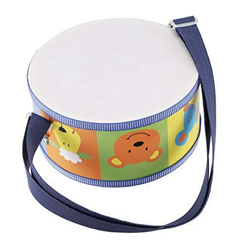 SODIAL Strumento Musicale A Tamburo in Legno per Bambini con Animali Colorati, Cinturini e Bacchette