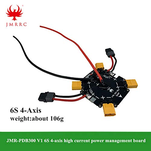 Parts & Accessories JMR-PDB300 V1 6S / 12S Quad-axis High Current Power Management Board for DIY Agricultural Spraying Drone Quadcopter - (Color: 6S, CN)