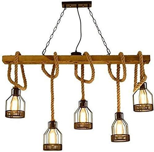 LHOME Retro Industrial Design Wood Chandelier Chandelier Chandeliers Indoor Lighting Table Lamp Kerosene Lamp Metal Chandelier Bar Chandelier Rope