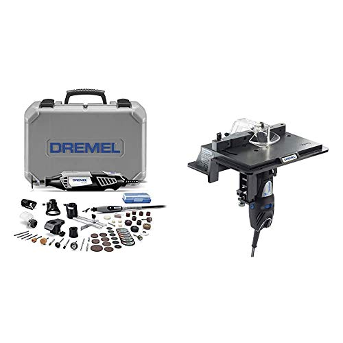 Dremel 4000-6/50 High Performance Rotary Tool Kit with Flex Shaft- 6 Attachments & 50 Accessories & 231 Portable Rotary Tool Shaper and Router Table- Woodworking Attachment