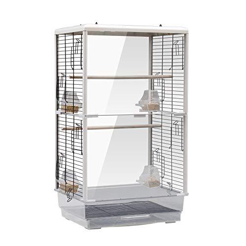 鳥かご 大型 透明 鳥小屋 バードケージ 鳥籠 大きいケージ 鳥の巣箱 アクリル製 特大 複数飼い 鑑賞用 おしゃれ 組み立て式 セキセイインコ オカメインコ オウム 文鳥 小鳥 給餌ボウル付き
