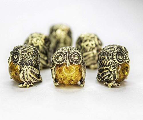 Small Brass Owl Wisdom Bird Ornament Sculpture Trinket Handmade Collectible Decorating Figurine