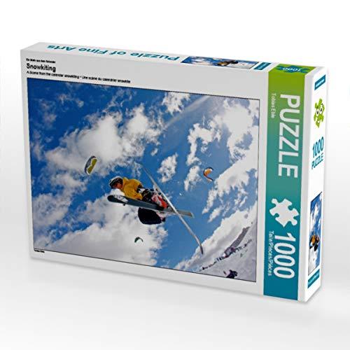 CALVENDO Puzzle Snowkiting 1000 Teile Lege-Größe 64 x 48 cm Foto-Puzzle Bild von Tobias Eble