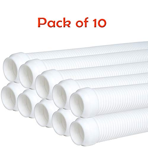 Check Out This Podoy Pool Cleaner Hose Sections, 40 Flexible Spiral Wound Hose with 1.5 Male & Fem...