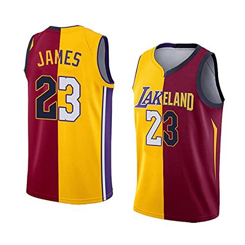 GFQTTY Lakers 23# Camiseta De Swingman De Baloncesto Bordada, Camiseta Sin Mangas De Empalme De La NBA, Uniforme De Baloncesto Deportivo