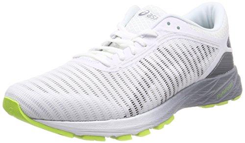 Asics Dynaflyte 2, Zapatillas de Entrenamiento para Hombre, Blanco (White/Black/Stone Grey 0190), 46.5 EU