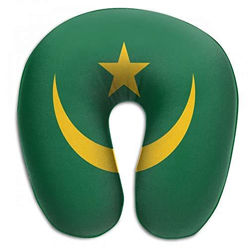 Warm-Breeze Bequemes Reisekissen Mauretanien Flagge Memory Foam U-förmiges Kissen Flugzeug Kissenauflage Nackenkissen