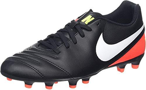 Nike 819233-018, Scarpe da Calcio Uomo, Nero/Bianco/Arancione/Giallo Fluo (Hyper Orange), 38.5 EU