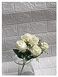 YINGNBH Rosas Artificiales Ramo Artificial Rose Coffeeshop Navidad Mesa de Navidad Decoración de la Boda Flores de Tela Minirose (Color : White)
