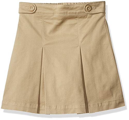 Amazon Essentials - Falda pantalón de uniforme para niña, Caqui, US XL (EU 146 -152 CM, S)