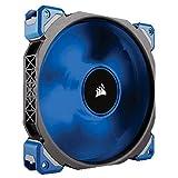 Corsair ML140 Pro LED PC-Gehäuselüfter (140 mm, mit Premium Magnetschwebetechnik, Blau LED, Single Pack)