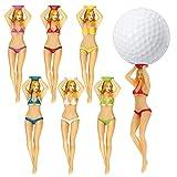 NXX Camisetas De Golf Bikini Chica Mujer Sexy Lady 75 Mm (3 Pulgadas) Tees De Golf De Plástico Herramientas Inicio Entrenamiento De Golf Accesorios De Golf Paquete De 24