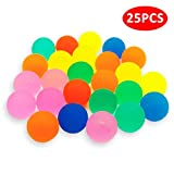 WeNet Neon Bouncy Balls 25 Pieces Bouncy Ball Party Bag Fillers Appear