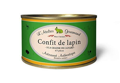 LAtelier Gourmand | Confit de lapin - Eingelegte Hasenkeulen 4-5 Stück 1350 g