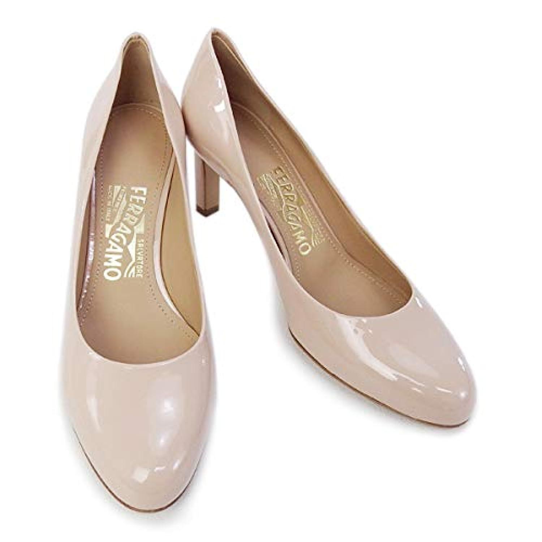 [サルヴァトーレ フェラガモ] 靴 レディース パンプス エナメル ベージュ (LEO 70 0619597 NEW BISQUE) [並行輸入品]