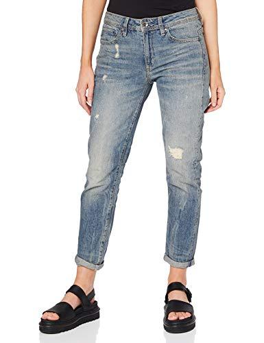 G-STAR RAW Damen Jeans Midge Saddle Boyfriend, Blau (Lt Aged Destroy 8586-1243), 26W / 30L