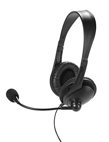 Vivanco IT-HS STEREO RC Stereo Headset mit Fernbedienung (Auf-Ohr, Lautstärkeregler) schwarz