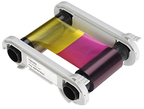 EVOLIS YMCKO STRAIGHT FROM THE MANUFACTURER HIGHEST QUALITY RIBBON CASSETTE (R5F008AAA) 300 PRINT COLOR RIBBON COMPATIBLE IN THE EVOLIS PRIMACY PRINTER
