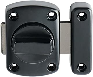 Alise Rotate Bolt Latch Gate Latches Safety Door Lock,MS220E-B Plating Black