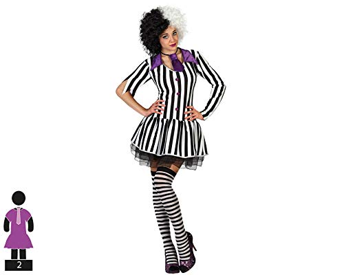 Atosa-S1102471 guerrero Adult Sized Costumes, Color blanco/negro, XS (BigBuy Carnival 18710)