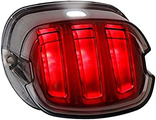 Chemini Feu arri/ère modifi/é pour moto int/égr/é Feu stop LED/&Clignotant Voyant 16 LED 12V Moto feux de freinage clignotants Connexion /à cinq fils avec cadre de montage en fer /étanche-blanc