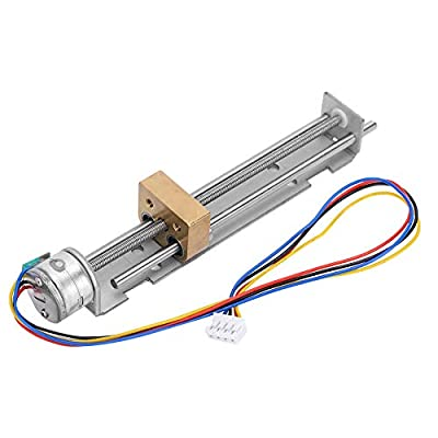 Stepper Motor Linear Miniature Slide Table, Linear Guide Slide Table Screw Lead Motion Table Motorized Nut 15 Small Motor