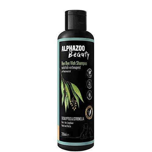 alphazoo Bye Bye Vloh Shampoo Hunde & Katzen speziell gegen Juckreiz, Flöhe | Fellpflege mit pflanzlichen Inhaltsstoffen, entfernt unangenehme Gerüche, pH-neutral empfindliche Haut, ohne Silikone