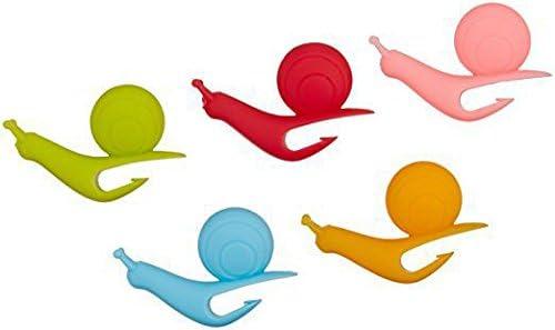 new arrival Z-bond lowest 5 PCS Snail Shape Silicone Tea Bag Holder Cup outlet online sale Mug Candy Colors Gift sale