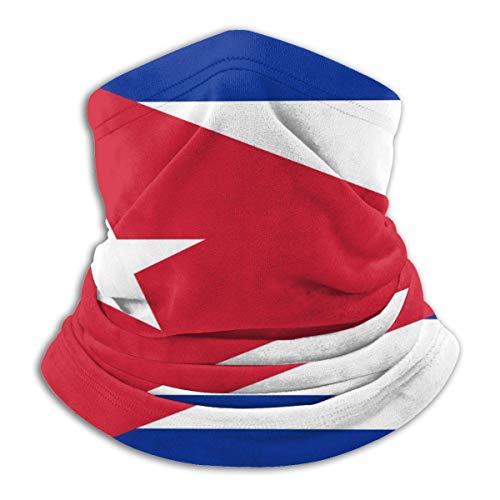 Verctor Cuba Drapeau 2 Cache-Cou Cache-Cou Extensible Masque Facial Coupe-Vent Bouche Masque Unisexe Housse de moufle