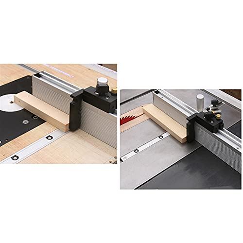 Luyipingqiwnd Table de jauge à onglets Scie Scie Routeur Angle d'angle Guide de jauge d'aluminium Profil de clôture en aluminium 450/600 / 800mm avec arrêt de basculement pour outils de travail sur bo