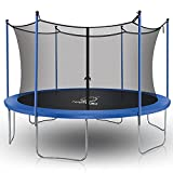 MAFOROB 12 Ft Trampoline with Enclosure Net Outdoor Fitness PVC Spring Cover Padding for Children and Adults