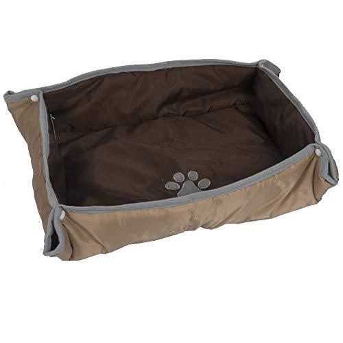Bath & More Hundebett- und Decke, 2-in-1, 70 x 60 cm, Beige/Braun