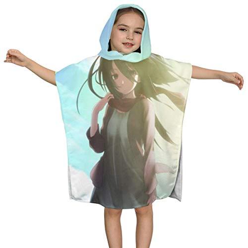 IUBBKI Shingeki no Kyojin Kinder Badetuch mit Kapuze Premium-Qualität Soft Ultra Beach Wrap Poncho Cape Badeanzug Cover Up für Strandpool