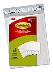 Includes: 18 Pairs of Small, White Command Picture Hanging Strips (36 Strips total); 4 Pairs hold 4 pounds Maximum frame size of 8 inches x 10 inches Damage free decorating: Say goodbye to holes, marks, or sticky residue on your walls; Command Pictur...