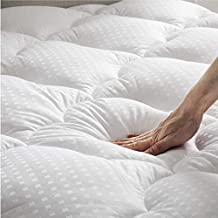 Bedsure Mattress Topper Full Size Pillow Top - Cooling Mattress Pad Cotton Quilted Mattress Cover with Deep Pocket , Double Padded PillowTop with Fluffy Down Alternative Fill