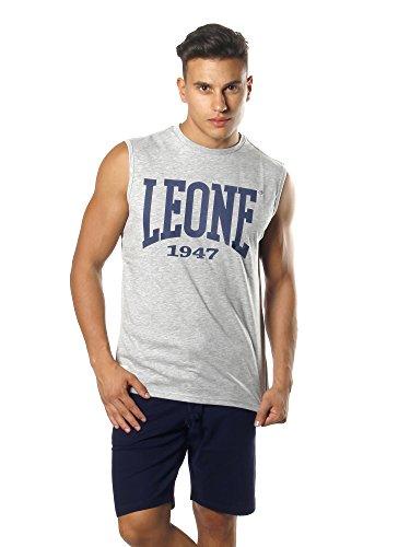 LEONE 1947 APPAREL Sport Fight Activewear LSM560, Smanicato Uomo, Grigio (Melange), XL