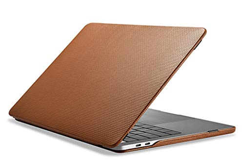 YiMi Funda de piel para MacBook Pro 16 2019 lanzamiento A2141, hecha a mano, de piel auténtica, estilo vintage, funda extraíble para MacBook Pro 16 (marrón)